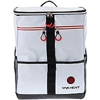 ビバハート (VIVA HEART) リュック バックパック リュックサック スクエア型 合皮素材 配色デザイン 013-86835 (F(50), ホワイト(005))