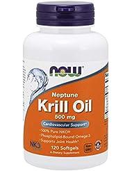 [海外直送品] ナウフーズ  Neptune Krill Oil 120 Softgels 500 mg