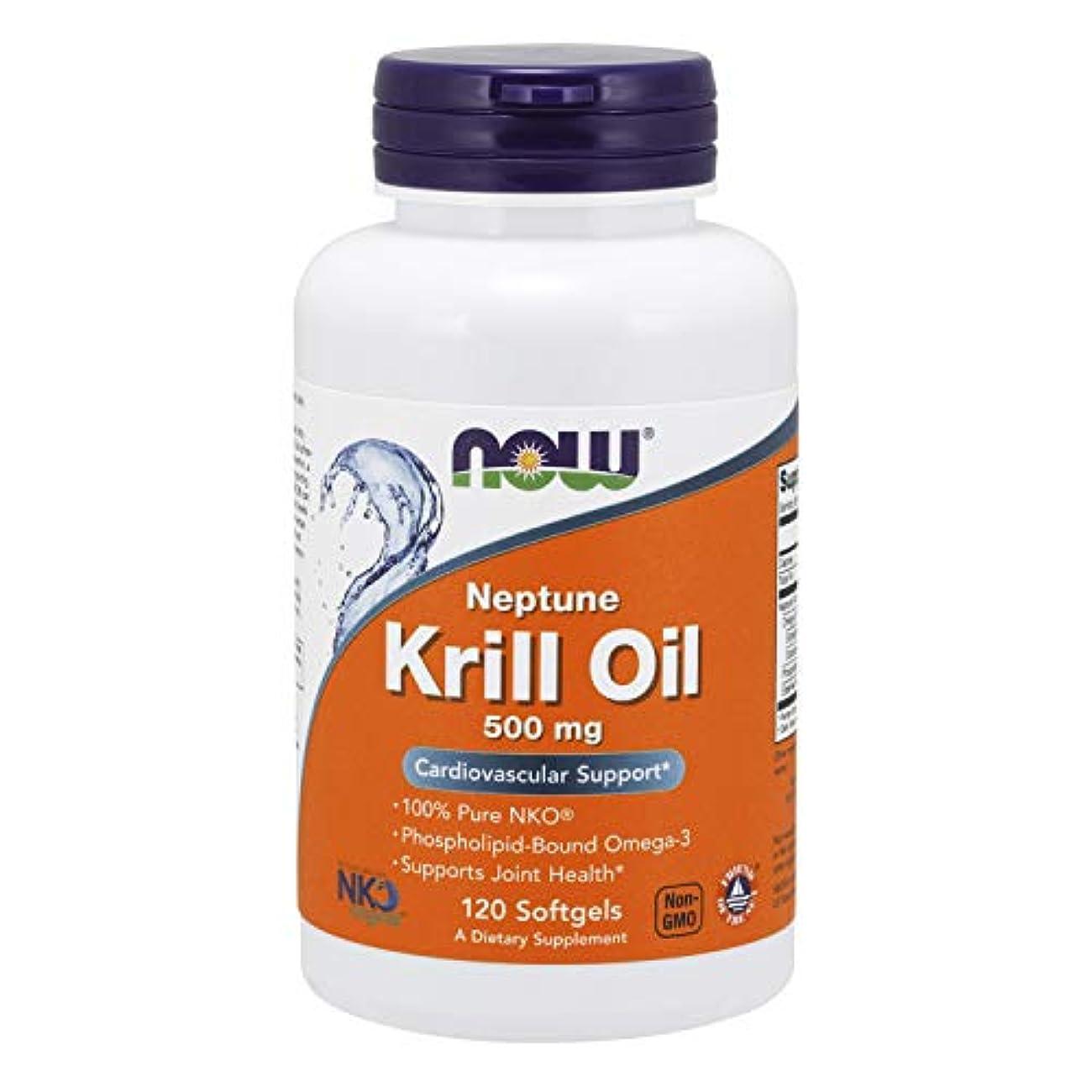 トランペット離婚カウントアップ[海外直送品] ナウフーズ  Neptune Krill Oil 120 Softgels 500 mg