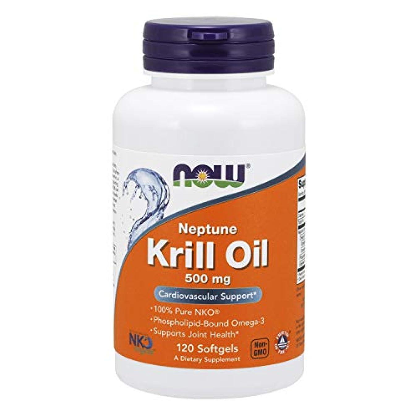 義務づけるなめらかな韓国語[海外直送品] ナウフーズ  Neptune Krill Oil 120 Softgels 500 mg