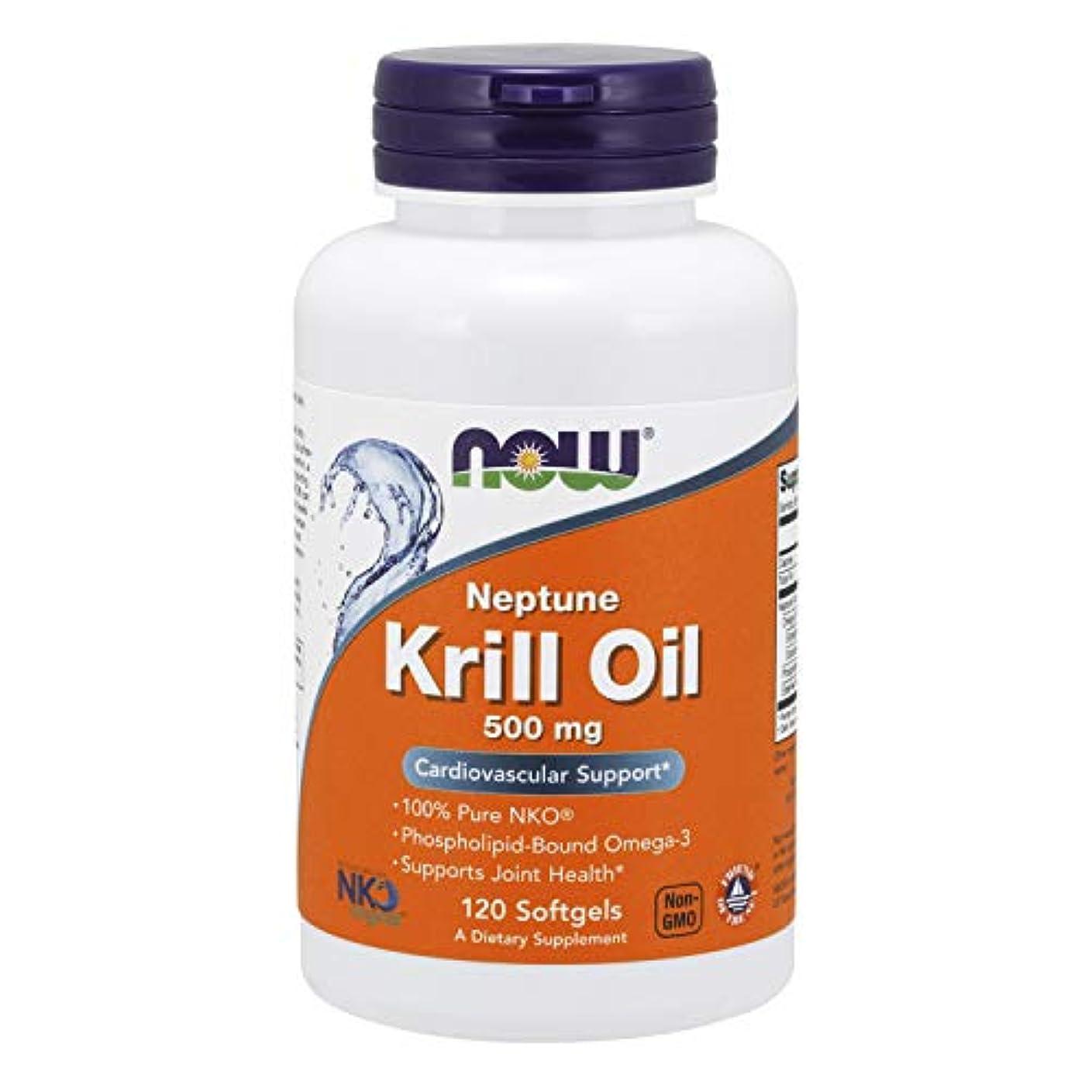 おめでとう警官フクロウ[海外直送品] ナウフーズ  Neptune Krill Oil 120 Softgels 500 mg
