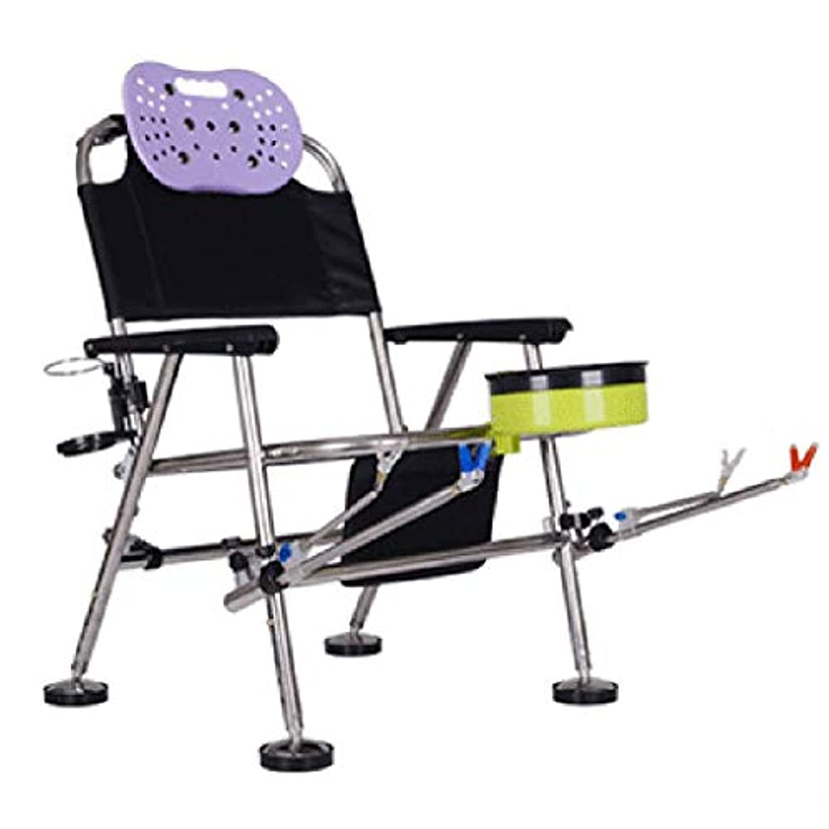 雰囲気受け皿母折りたたみ多機能釣り椅子、アウトドアレジャービーチチェア、ステンレス鋼釣り椅子、釣りギア、キャンプテーブルと椅子、55×55×75センチ