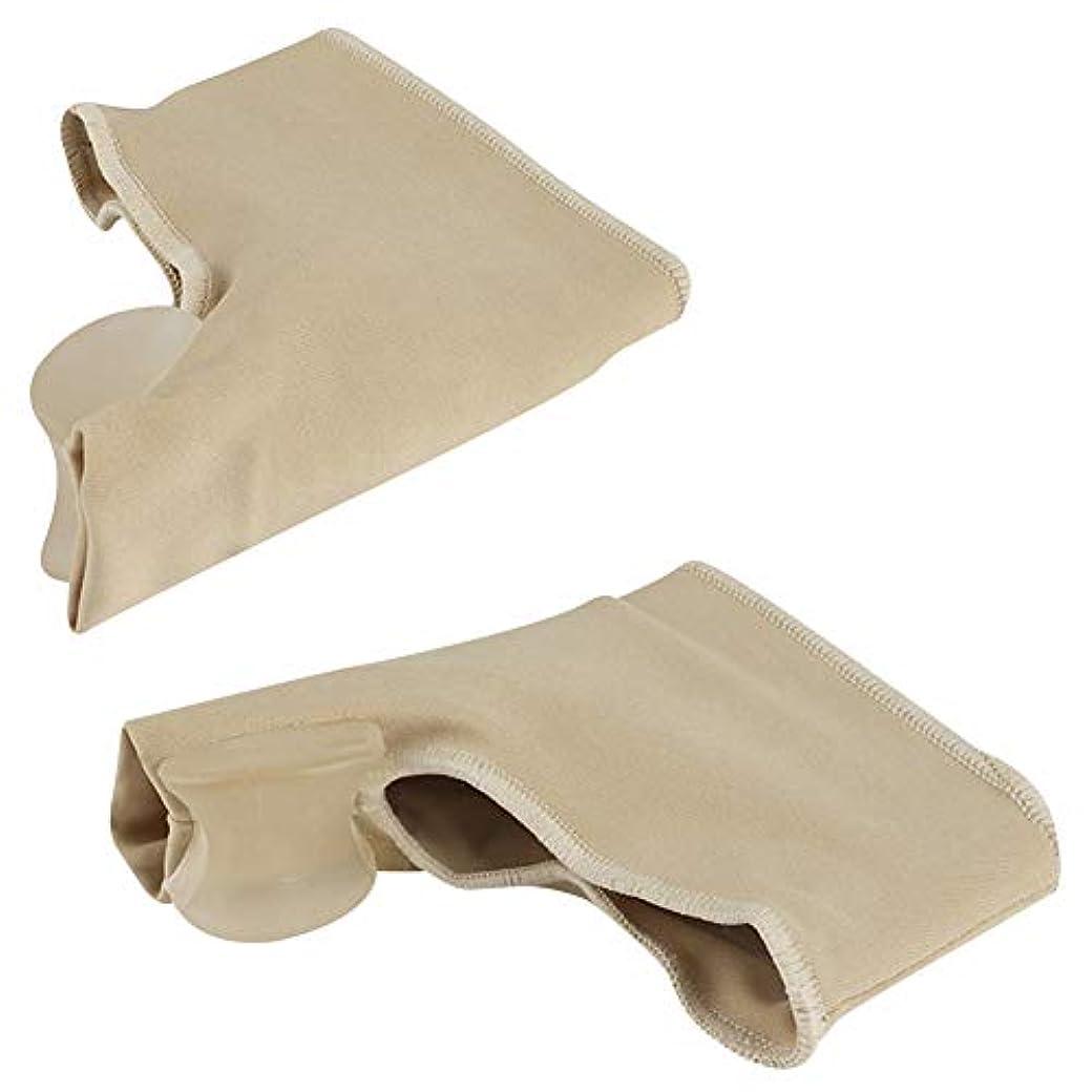 複合ブラウンウサギOUYOU 足指サポーター 足指を広げる 外反母趾 足指矯正パッド 血行促進 シリコン (M)