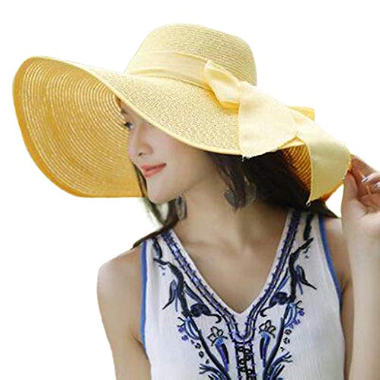 社会学チケット追加日除け帽子 ハット レディース ビッグバイザー 日よけ 夏季 日焼け 折りたたみ つば広 紫外線100%カット UV ハット 可愛い 顔効果抜群 サンバイザー 小顔効果 春夏 お出かけ用 ビーチハット 海辺 ROSE ROMAN