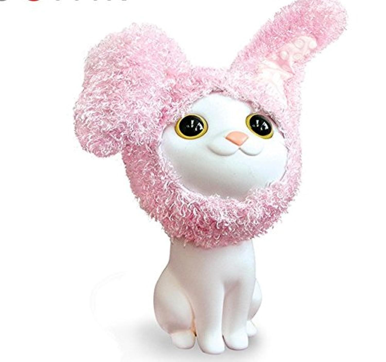 マネー バンク 創造的な子猫子供のお金ボックス猫メイクアップシリーズエコ玩具漫画ピギーバンク(ホワイト)