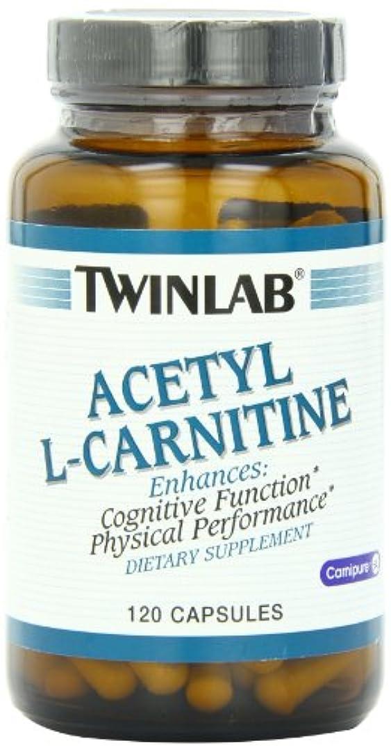 絶えず変装くるみTwinlab - アセチル L-カルニチン 500 mg であります。120カプセル