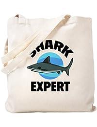 CafePress – Shark Expert – ナチュラルキャンバストートバッグ、布ショッピングバッグ S ベージュ 0654474795DECC2
