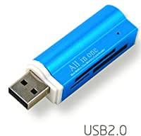 FC USB 2.0 Super Speed カードリーダー アルミニウム合金(Mini SDHC,SD,TF,ms pro duo,MicroSD,SDHC,MS PRO,MINISD,MS Duo対応)