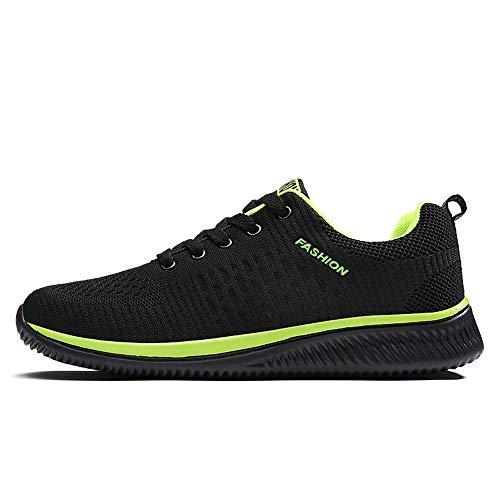 FITKYJP ランニングシューズ レディース エアクッション性 ジョギング トラベル グリーン 緑黒 40