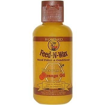 Howard Feed-N-Wax 木部用 天然素材ワックス (ビーズワックス、カルナバワックス、オレンジオイル)