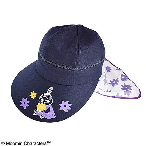 ムーミン 3WAY帽子 フラワーパープル 【ST-NM0004】UVケア つば広タイプ