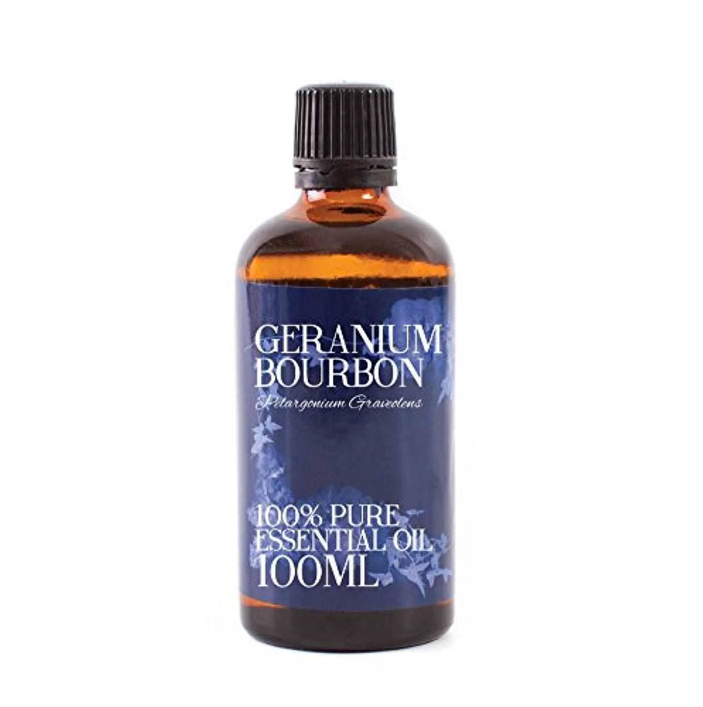 配管人差し指中傷Mystic Moments | Geranium Bourbon Essential Oil - 100ml - 100% Pure