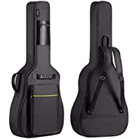CAHAYA ギターケース 軽量 ギグバッグ アコースティックギター ソフト ケース 8mmスポンジ 全体 リュック型…