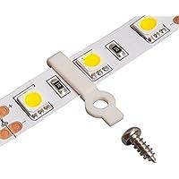 LEDテープ用 固定クリップ (GT-5050-A)LEDテープライト止め用コードステッカー クランプ 【25個入り】片側固定 幅10mm 非防水タイプテープに適用