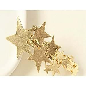 シューティングスター 流れ星 バレッタ 髪飾り ゴールド