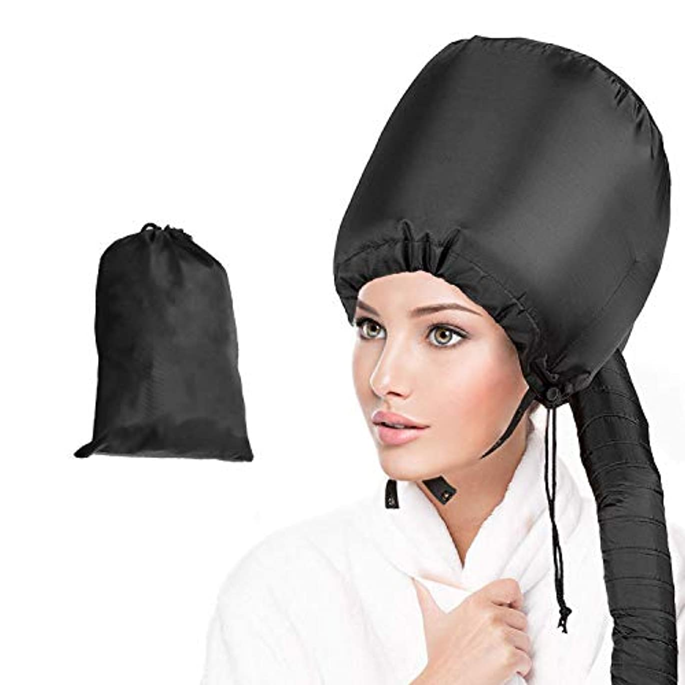 名前で遠足取り除くWeanas ヘアドライヤーキャップ 髪干し帽子 髪ケア ホームサロン 携帯収納ケース付き