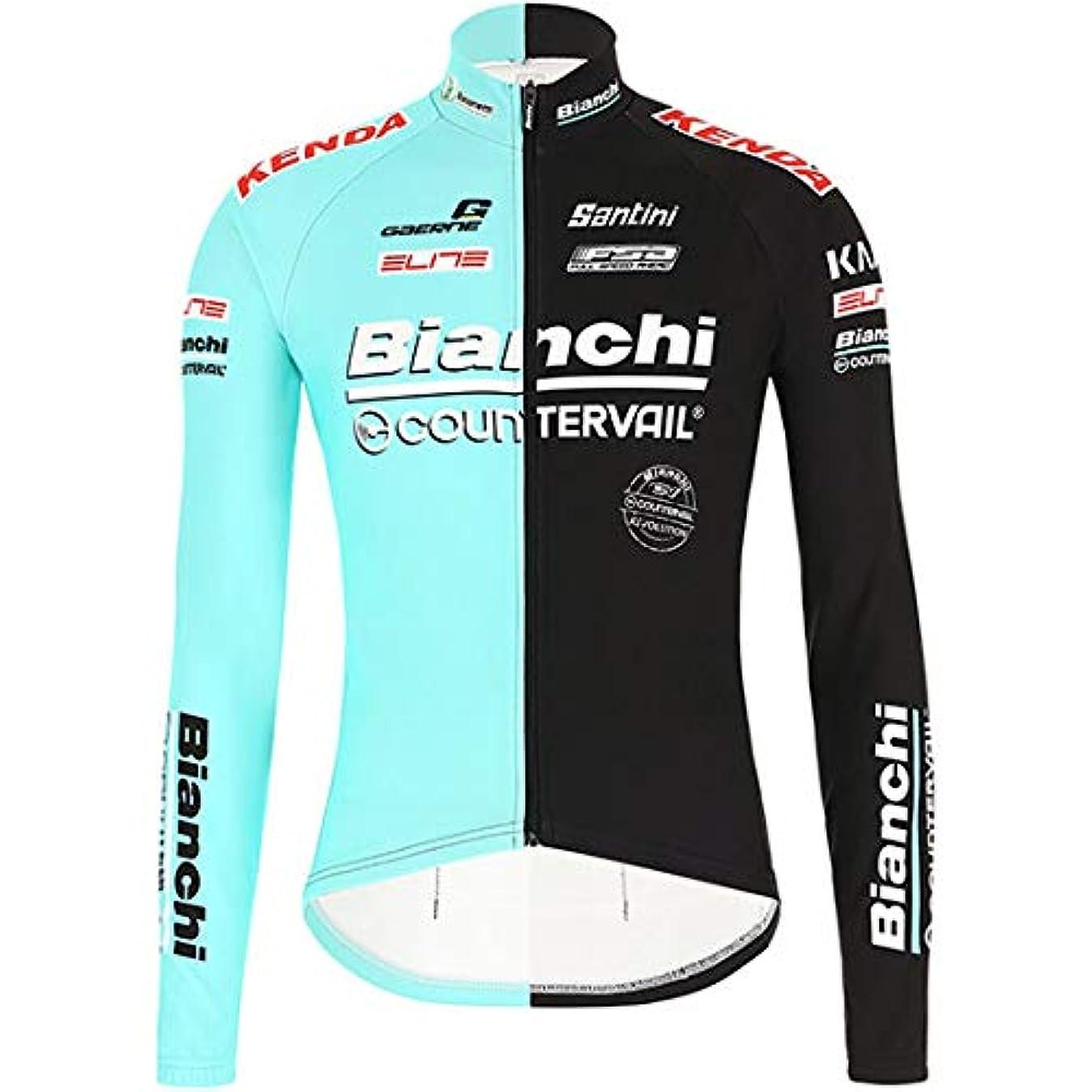 発音決済民兵自転車ウェア 2019 Bianchi Countervail 長袖ジャージ ビアンキ Mサイズ