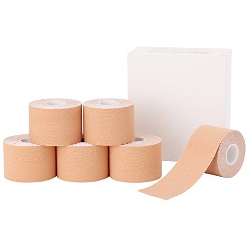 【全3サイズ】< 7ウェルネ > キネシオロジーテープ ベージュ ボックス 3.8cm幅×8巻 [ ...