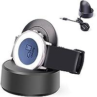Pebble Time Round 充電器スタンド MaxKu 充電ホルダー チャージャー 急速充電 携帯便利 (ブラック)