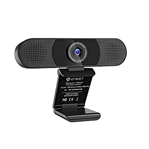 WEBカメラ eMeet C980pro ウェブカメラ pcカメラ 四つ360°集音AIマイク 二つスピーカー内蔵 1080P HD高画質パソコンカメラ USB接続簡単 SkypeカメラWEB会議用 テレビ会議 カメラ ビデオ通話 生放送 YOUTUBE Windows/Mac対応