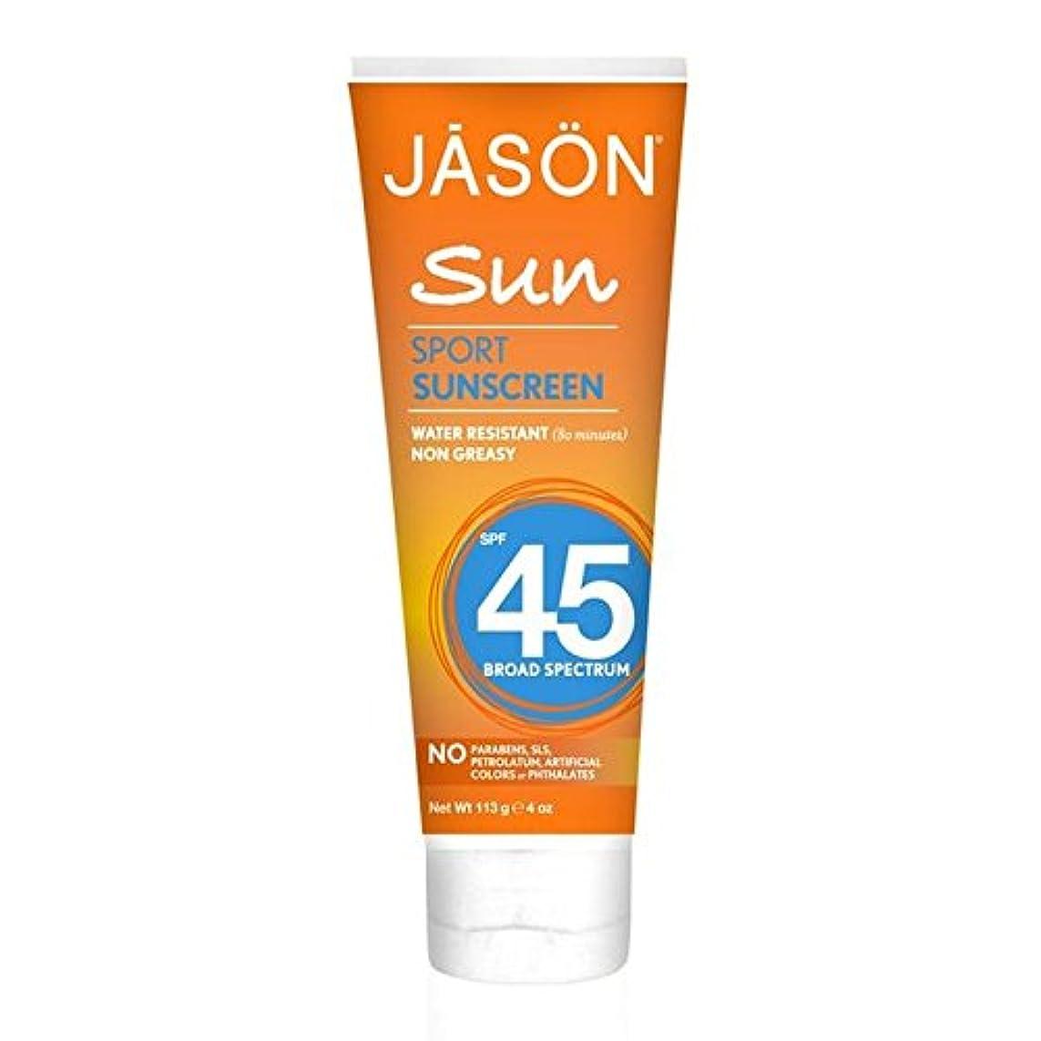 あまりにも許可する敬意Jason Sport Sunblock SPF45 113g (Pack of 6) - ジェイソン?スポーツ日焼け止め45の113グラム x6 [並行輸入品]