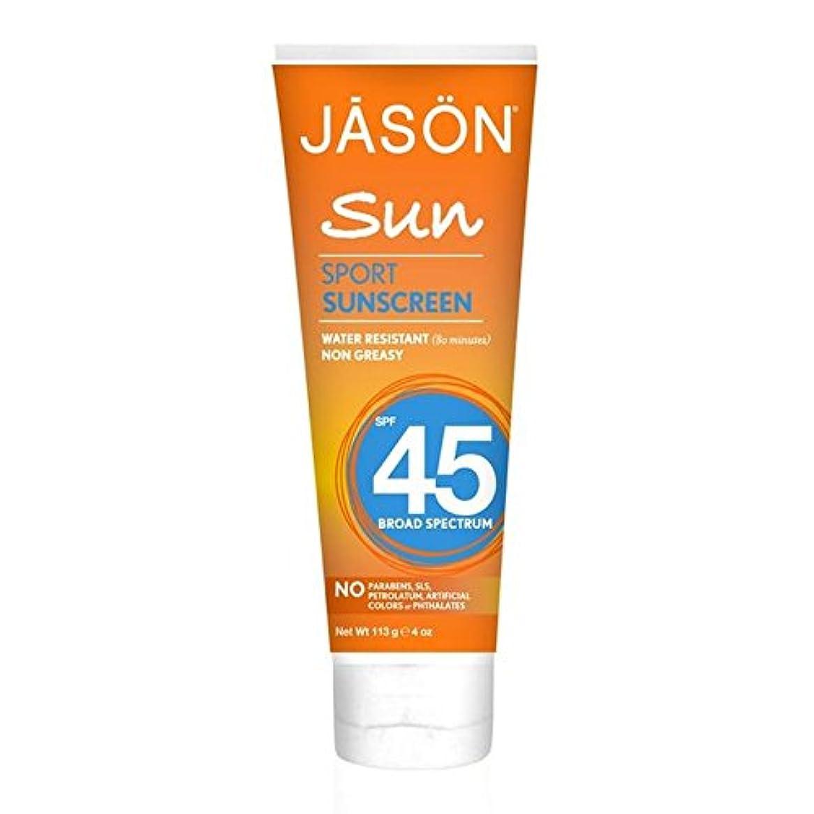 ジェイソン?スポーツ日焼け止め45の113グラム x4 - Jason Sport Sunblock SPF45 113g (Pack of 4) [並行輸入品]