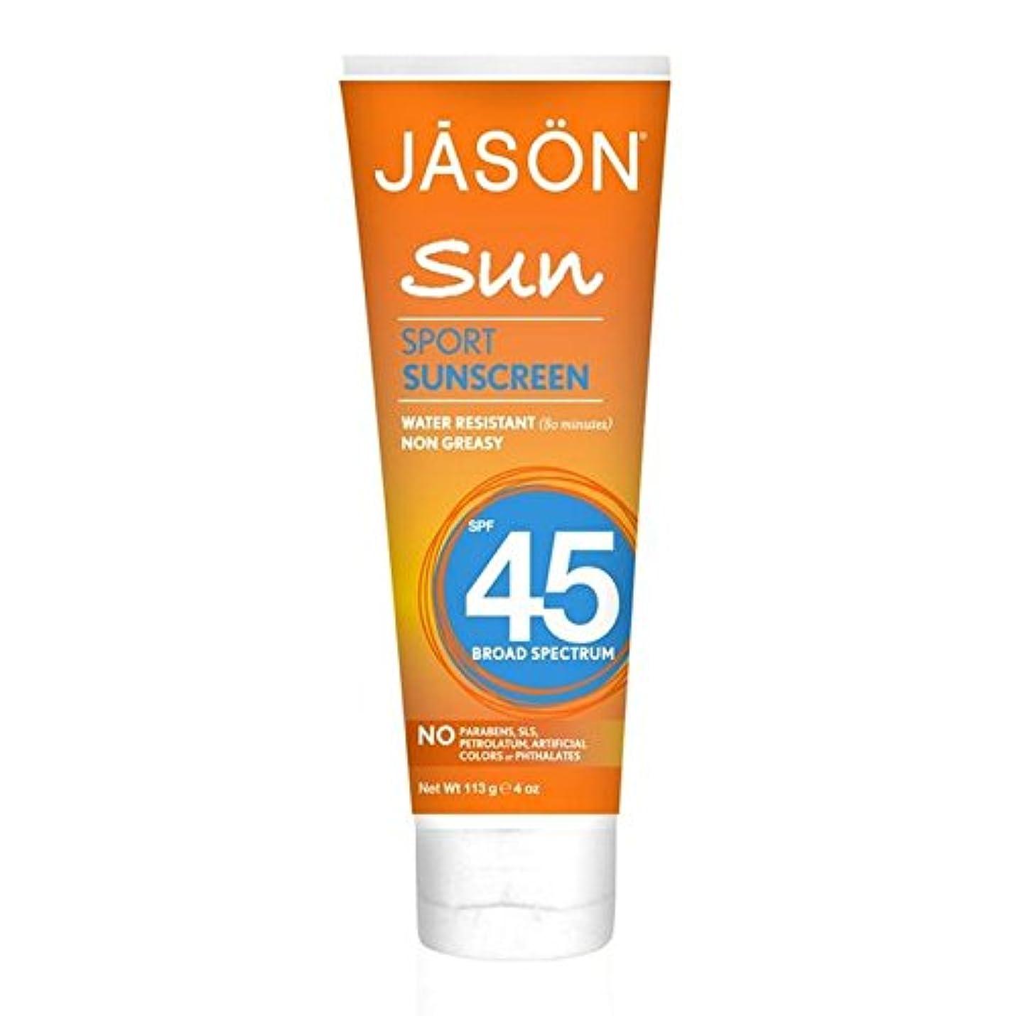 腐敗ミュート演劇Jason Sport Sunblock SPF45 113g - ジェイソン?スポーツ日焼け止め45の113グラム [並行輸入品]