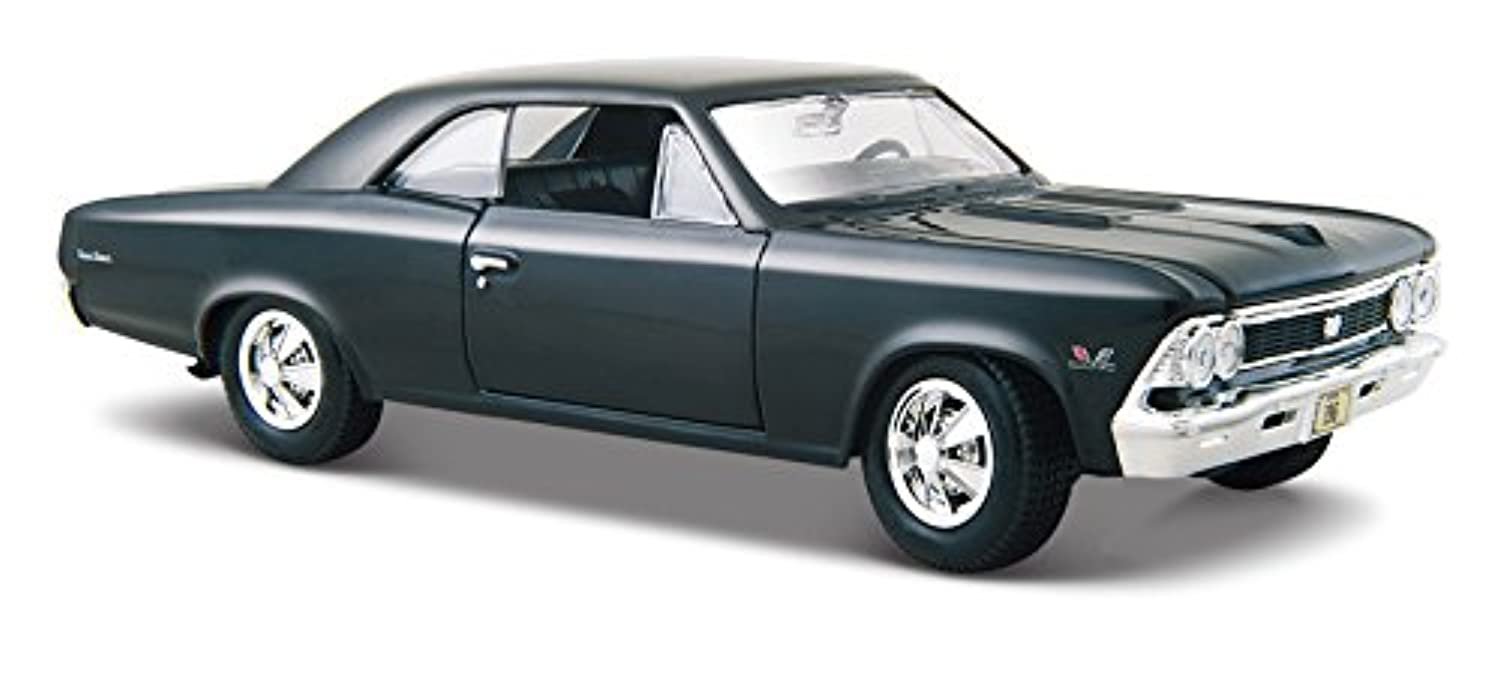 1966 Chevy Chevelle SS396, Blue - Maisto 31960 - 1/24 Scale Diecast Model Toy Car by Maisto