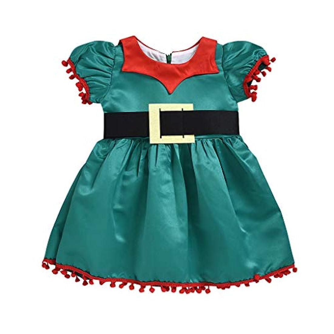 保証物理的に火薬MISFIY 子供 エルフ服 クリスマス ワンピース 女の子 コスチューム ドレス 仮装 長袖 可愛い おしゃれ カジュアル 柔らかい 誕生記念 出産祝い プレゼント (100)