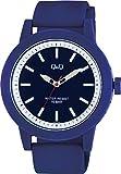 シチズン Q&Q 腕時計 アナログ ビックフェイス 防水 ウレタンベルト VS56-005 メンズ ブルー