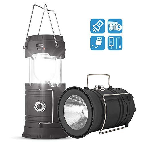 HOTGEE ソーラー LEDランタン 懐中電灯 超高輝度 携帯型 キャンプ ランタン 約2500ルーメン 折りたたみ式 ポータブル テントライト 停電 防災対策 登山 夜釣り ハイキング アウトドア 2個セット
