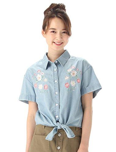 (ハニーズ コルザ)Honeys COLZA 刺繍使いデニムシャツ ブリーチ L
