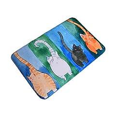Freahap ドアマット 玄関マット キッチンマット 台所マット フロアマット 保護マット 滑り止め付き 洗える 猫柄 可愛い 北欧風 浴室 #4 50*80CM