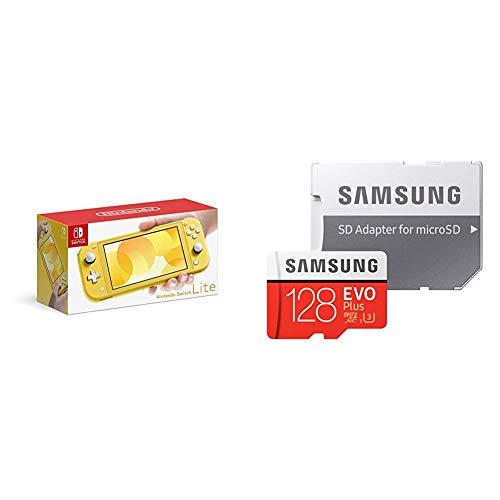 Nintendo Switch Lite イエロー + Samsung microSDカード128GB  セット