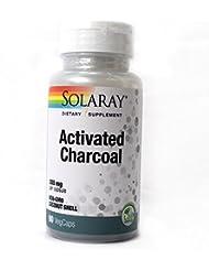 Solaray - 活動化させた木炭 280 mg。90カプセル