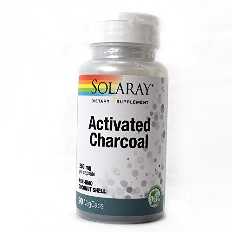 阻害するセンブランス軽減Solaray - 活動化させた木炭 280 mg。90カプセル