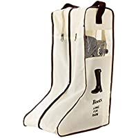 ブーツ収納 長靴 収納ケース 透明 窓付く 防水 手持ち付く 運び便利 旅行 トラベル ロングブーツ 靴カバー ポケット付き ホーム収納