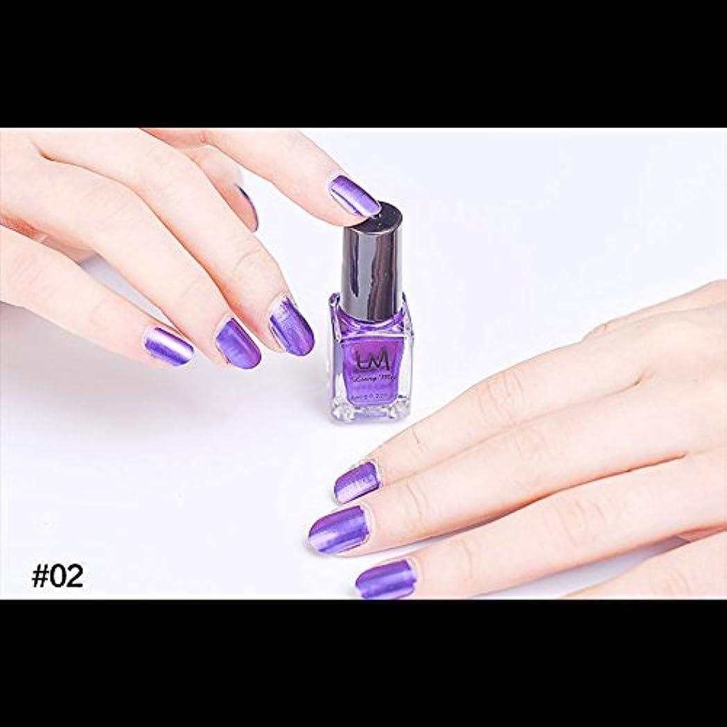 カストディアン百バーターhjuns-Wu マニキュア パール感 1ボトル 6ml ネイルポリッシュ (紫)