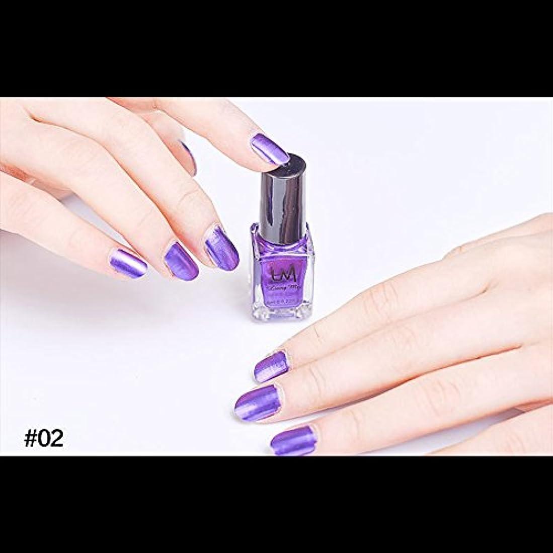 執着現実的不足hjuns-Wu マニキュア パール感 1ボトル 6ml ネイルポリッシュ (紫)