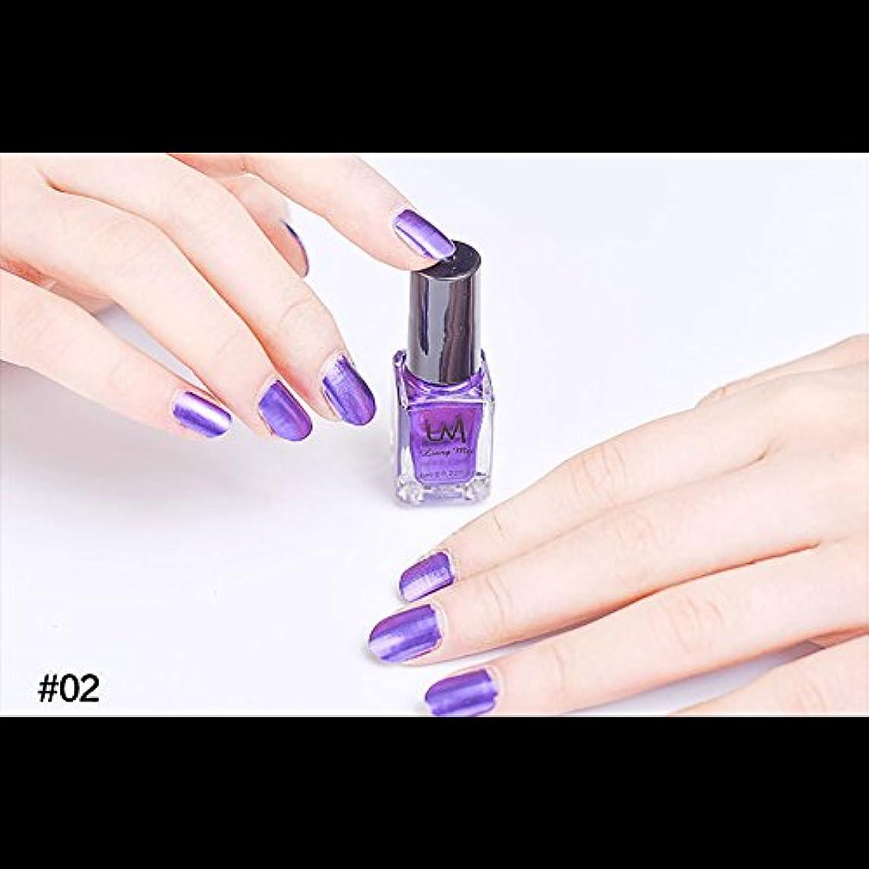 言及する梨倍増hjuns-Wu マニキュア パール感 1ボトル 6ml ネイルポリッシュ (紫)
