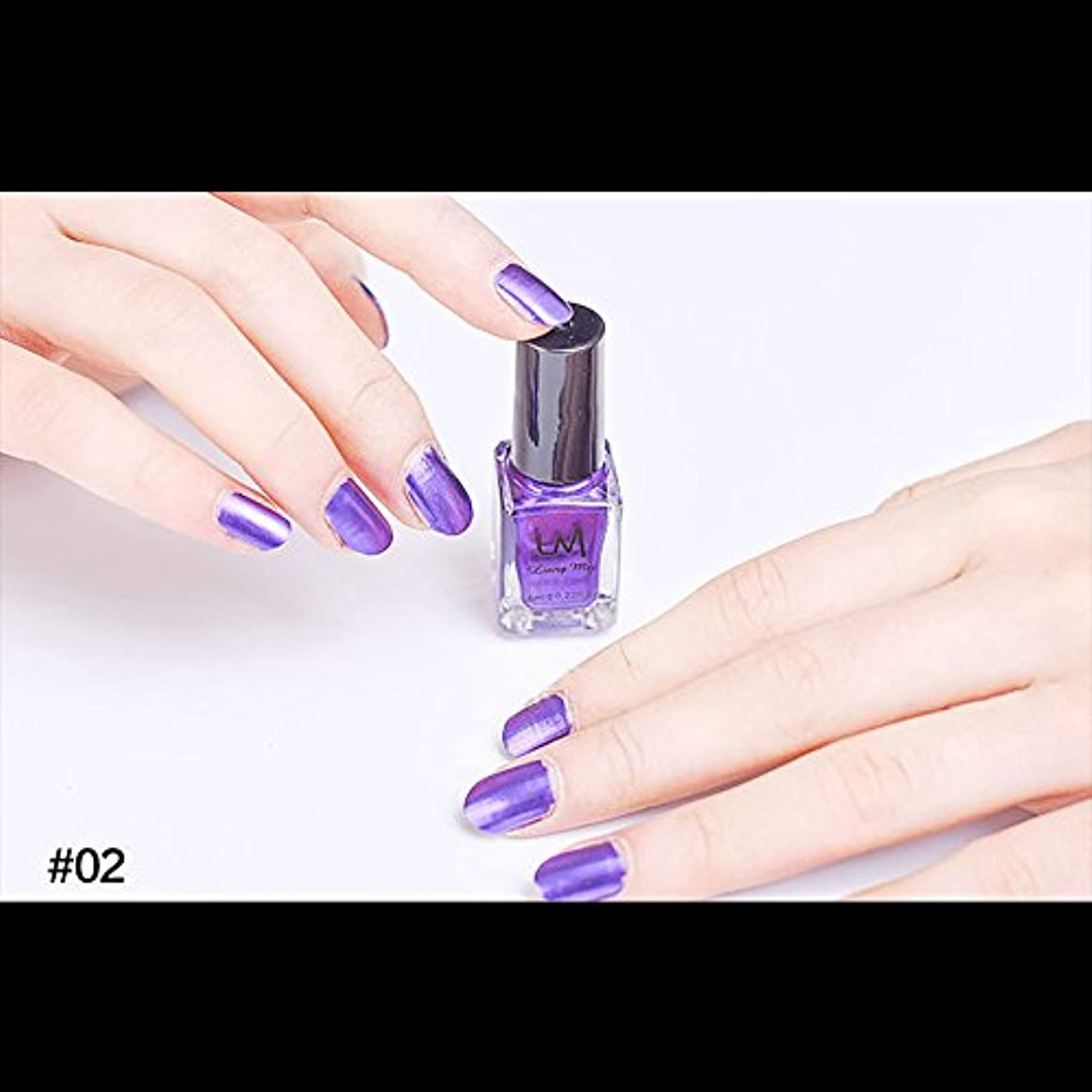 蛇行クリスマス避難hjuns-Wu マニキュア パール感 1ボトル 6ml ネイルポリッシュ (紫)