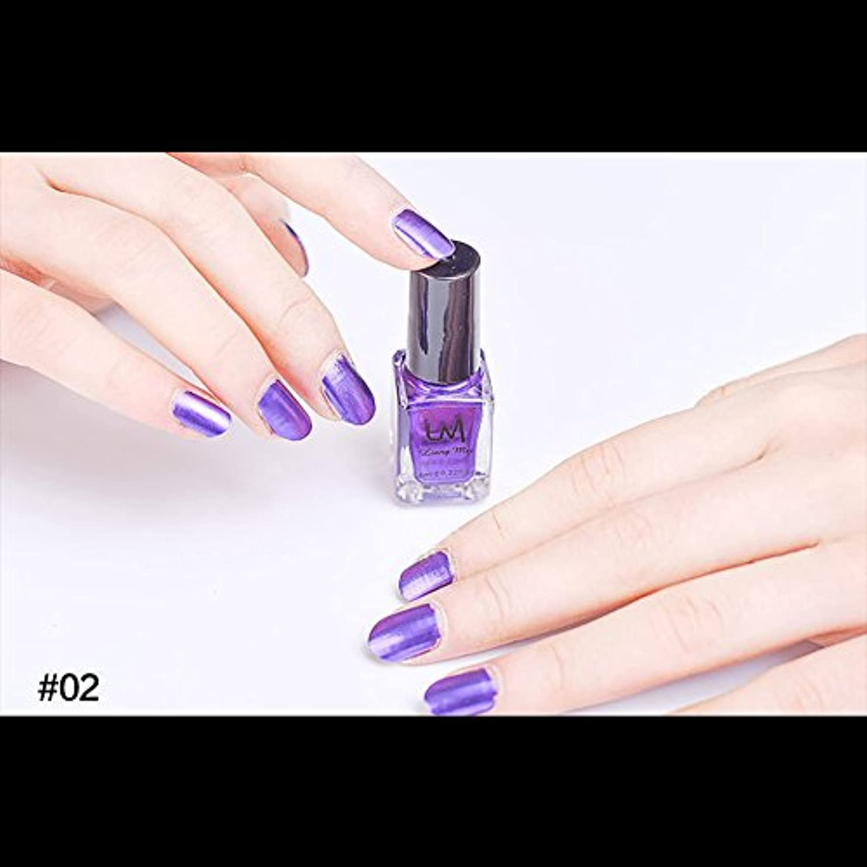 貧困非常に言い換えるとhjuns-Wu マニキュア パール感 1ボトル 6ml ネイルポリッシュ (紫)