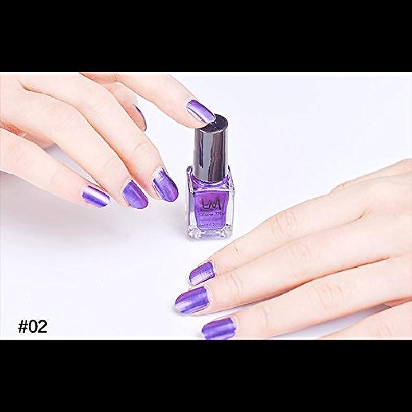 足音理容師カーフhjuns-Wu マニキュア パール感 1ボトル 6ml ネイルポリッシュ (紫)