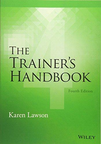 Download The Trainer's Handbook 1118933133
