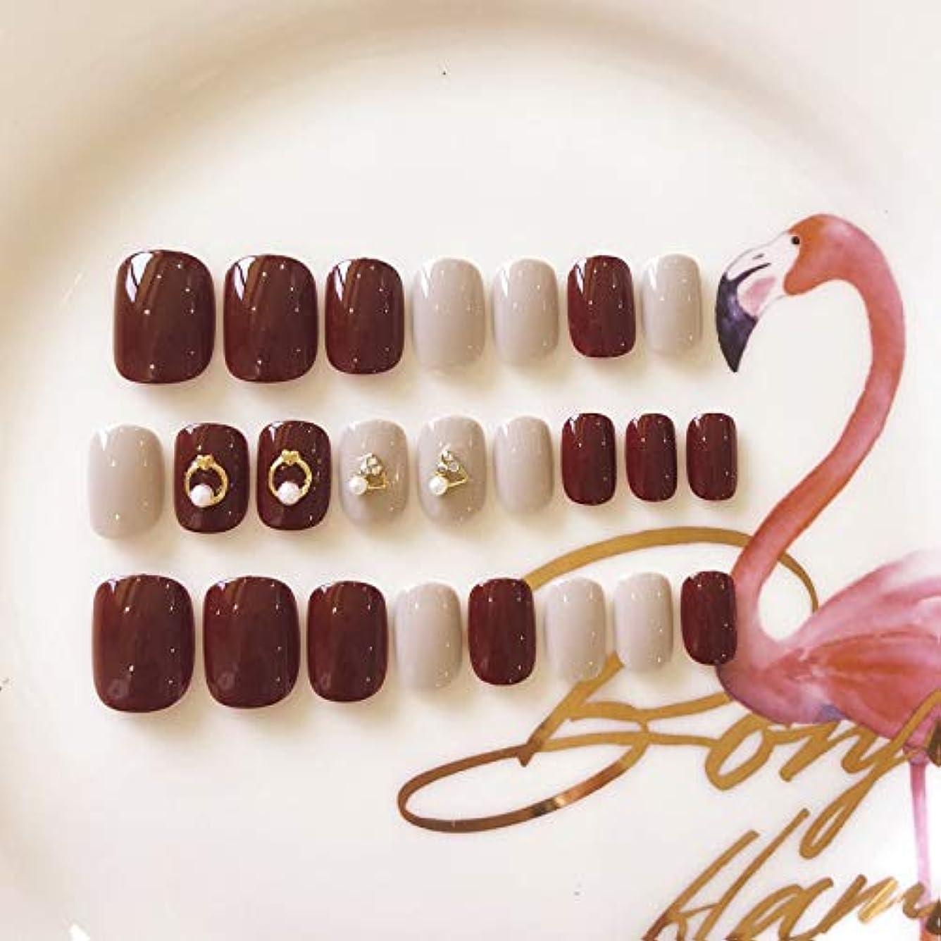 機密基準時間厳守Jonathan ハンドケア 花嫁の結婚式のネイルパッチ赤い偽爪キット24ピース偽爪接着剤フルカバーミディアムの長さ