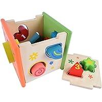 [はれちゃんのおもちゃシリーズ] カラフルな立体四面体パズル いろいろな形の穴にピースを通して空間把握能力を培おう