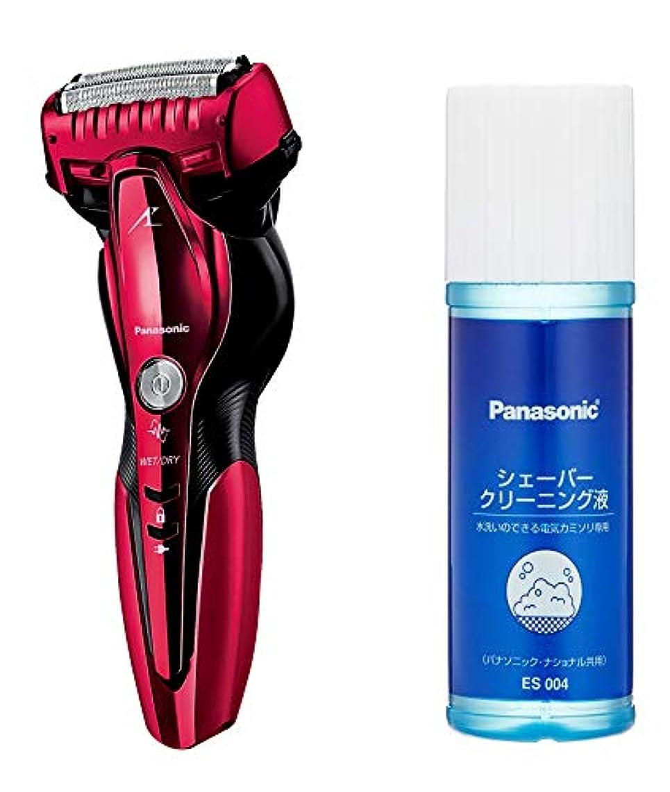 階下樹皮変化するパナソニック ラムダッシュ メンズシェーバー 3枚刃 お風呂剃り可 赤 ES-ST6Q-R + シェーバークリーニング液 セット