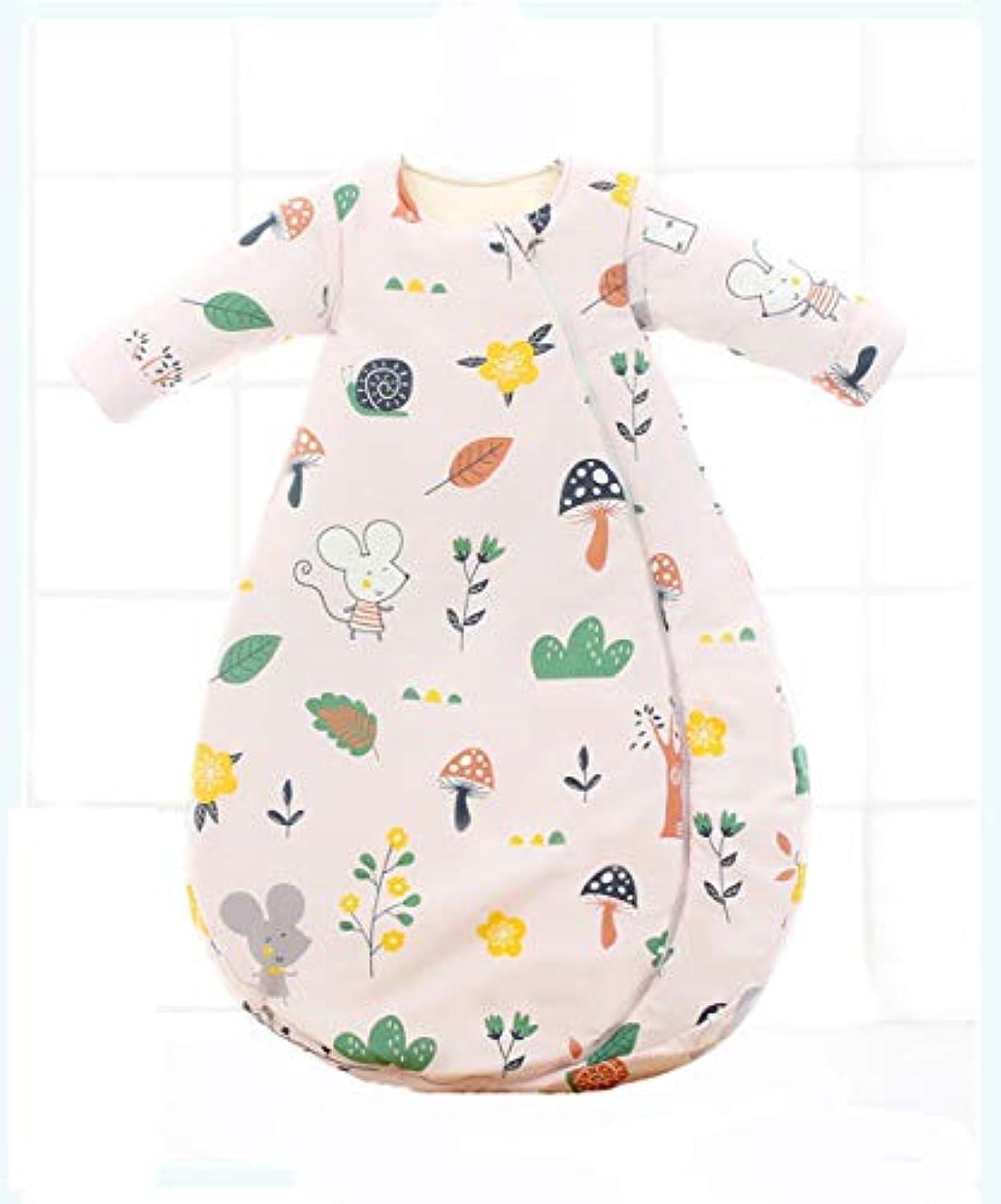 レース香り隣接ピュアコットンと秋と冬で赤ちゃんの寝袋です肥厚,ピンク