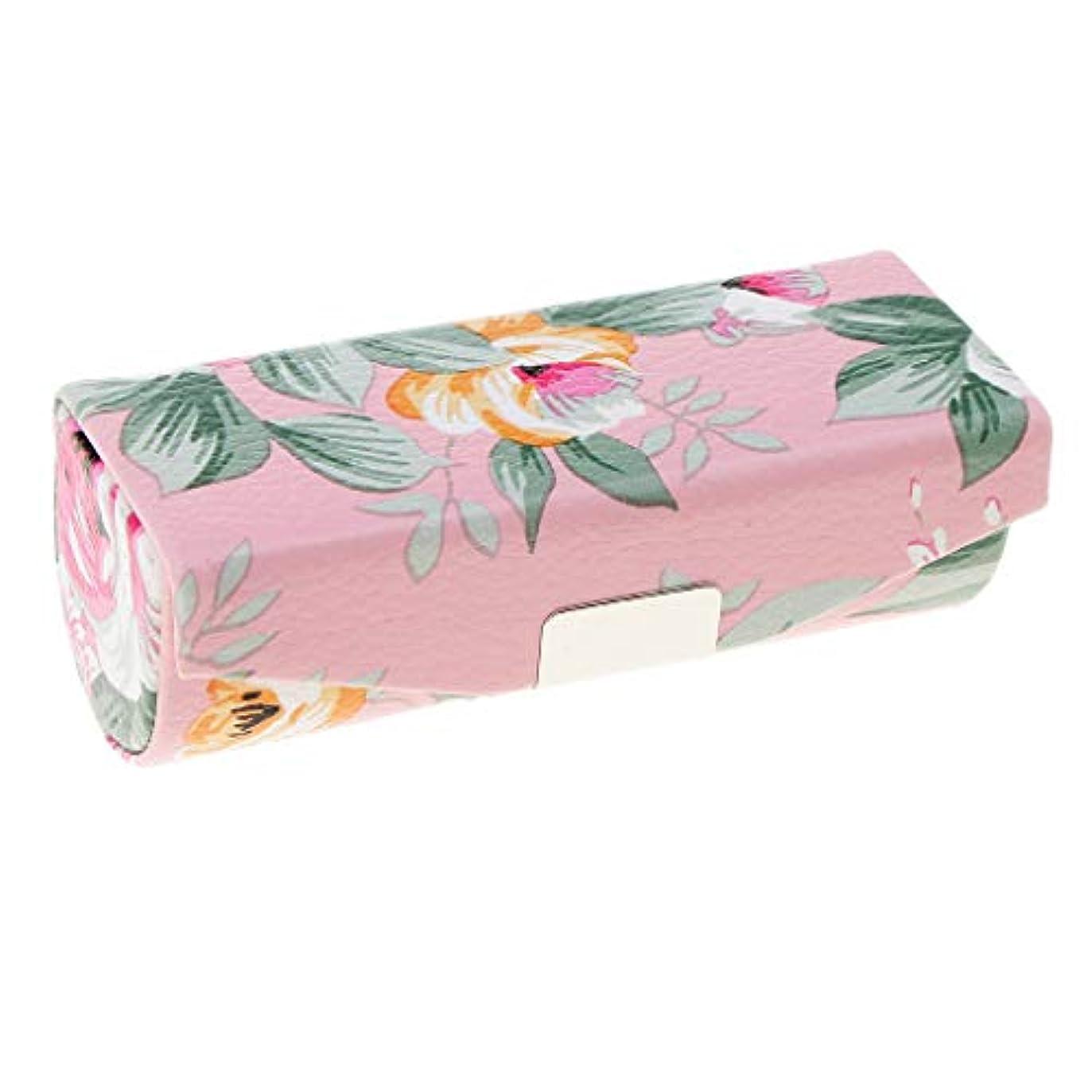 電話月曜兵器庫Fenteer 口紅ケース リップスティック ミラー付き メイクアップ  収納ホルダー  5色選べ - ピンク