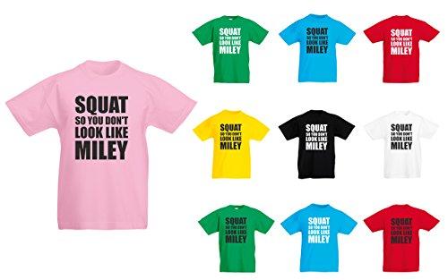 (マイリー サイラスみたいにならない様にスクワット。) Squat So You Don't Look Like Miley, 子供用 プリント Tシャツ